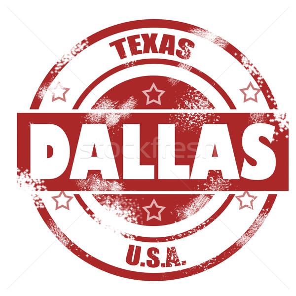 Dallas stempel afbeelding gerenderd gebruikt Stockfoto © tang90246