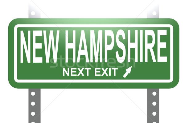 New Hampshire yeşil imzalamak tahta yalıtılmış görüntü Stok fotoğraf © tang90246