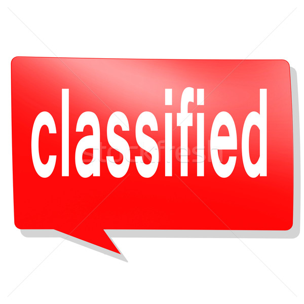 Classified word on red speech bubble Stock photo © tang90246