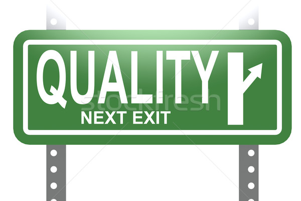 Quality green sign board isolated Stock photo © tang90246