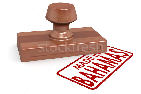 Wooden stamp made in Bahamas Stock photo © tang90246