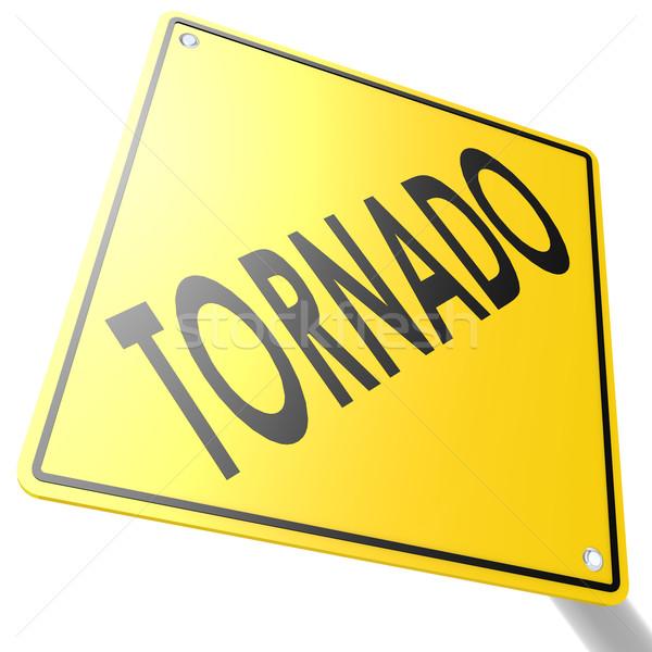 Placa sinalizadora tornado imagem prestados usado Foto stock © tang90246