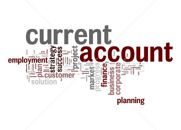 Current account word cloud Stock photo © tang90246