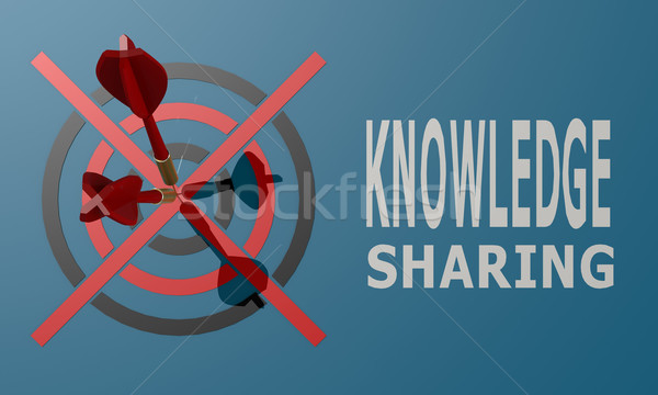 Dart board blue knowledge sharing Stock photo © tang90246