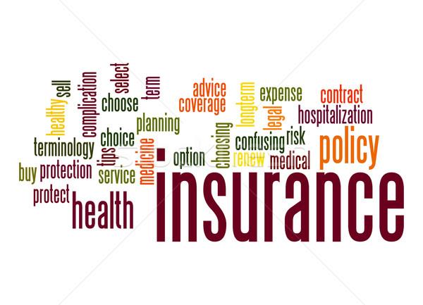 страхования слово облако медицинской службе договор правовой Сток-фото © tang90246