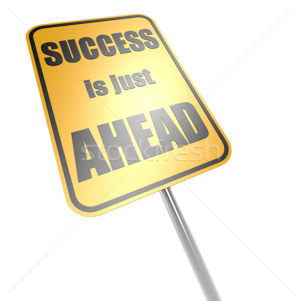 Success is just ahead road sign Stock photo © tang90246