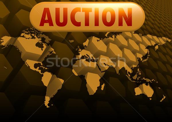 Leilões mapa do mundo oceano espaço lei justiça Foto stock © tang90246
