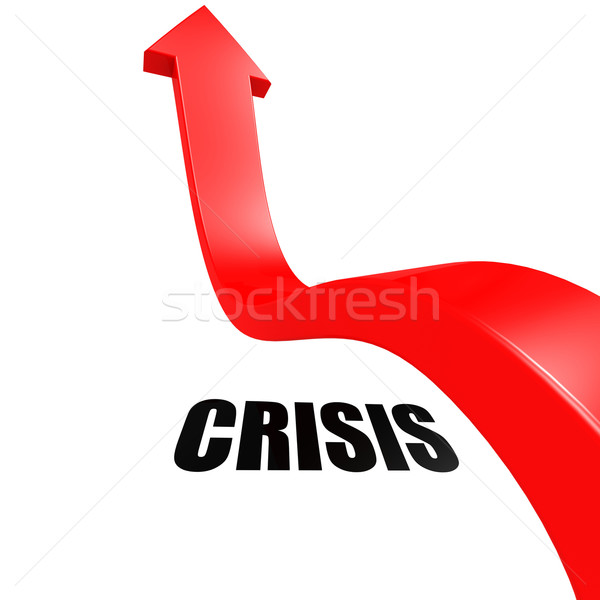 Arrow leap over crisis Stock photo © tang90246