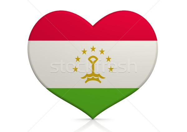 Таджикистан сердце фон путешествия стране концепция Сток-фото © tang90246