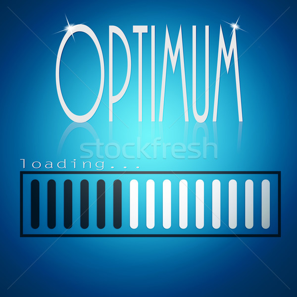 Stock photo: Blue loading bar with optimum word