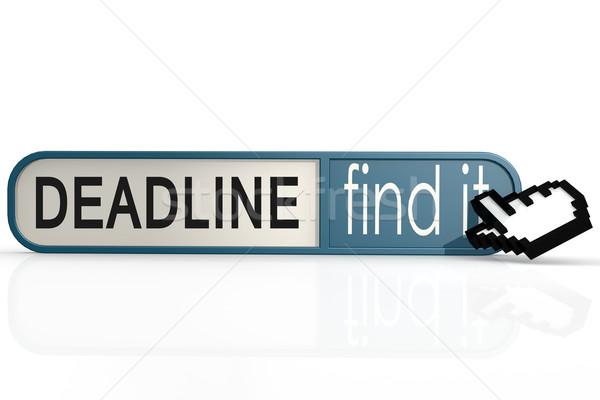 Сток-фото: крайний · срок · слово · синий · находить · баннер · изображение