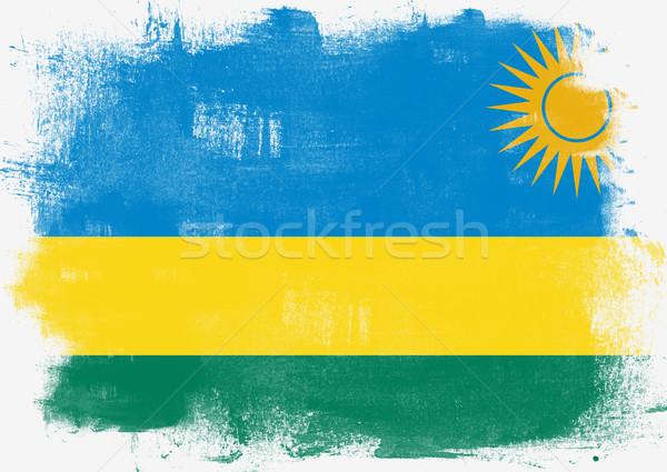 Pavillon Rwanda peint brosse solide résumé Photo stock © tang90246