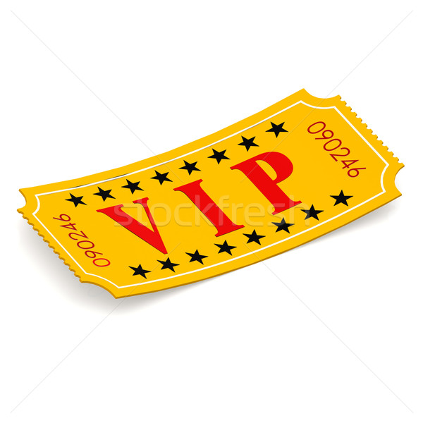 VIP ticket on white background Stock photo © tang90246