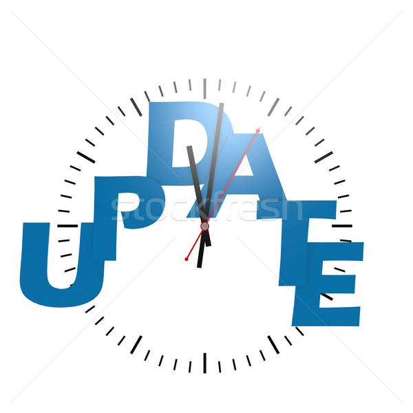 Frissítés szó óra kép renderelt mű Stock fotó © tang90246