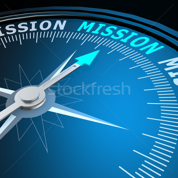 Mission mot boussole image rendu Photo stock © tang90246