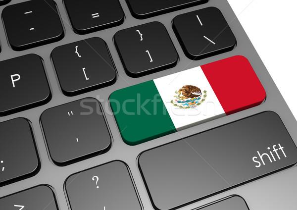 Meksyk klawiatury obraz świadczonych używany Zdjęcia stock © tang90246