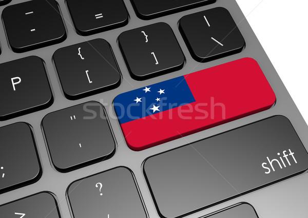Samoa toetsenbord afbeelding gerenderd gebruikt Stockfoto © tang90246