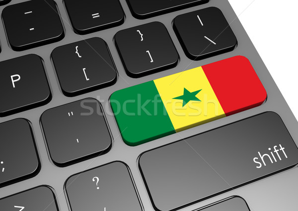 Szenegál billentyűzet kép renderelt mű használt Stock fotó © tang90246