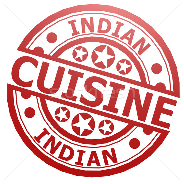 Indian cuisine stamp Stock photo © tang90246