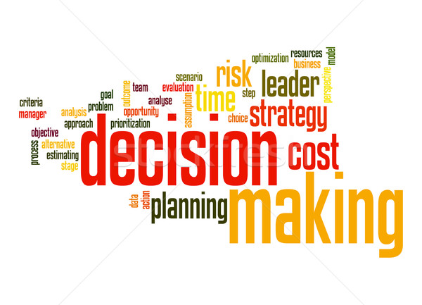 Decision marking word cloud Stock photo © tang90246