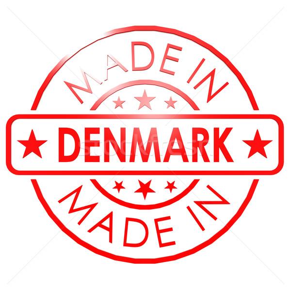 Дания красный печать бизнеса бумаги дизайна Сток-фото © tang90246