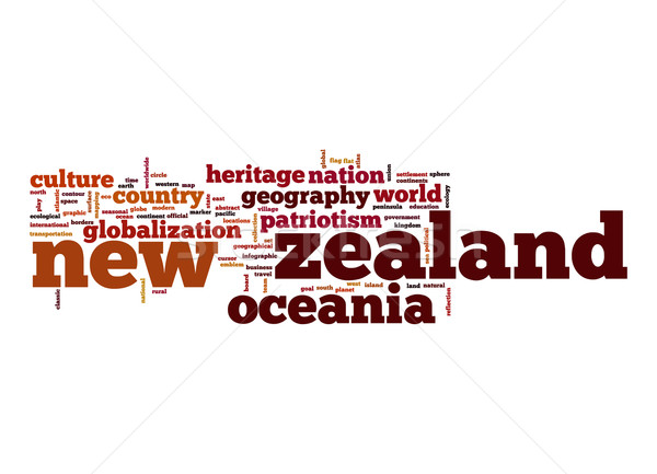 New Zealand woordwolk business wereld wolk planeet Stockfoto © tang90246