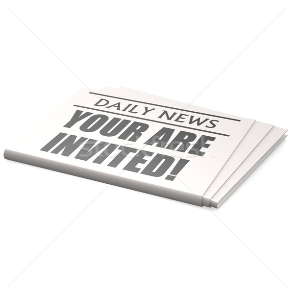 Newspaper you are invited Stock photo © tang90246