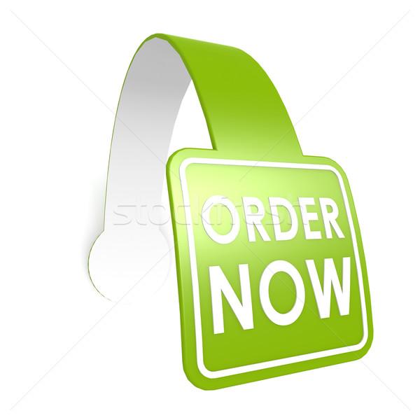 Order now hang label Stock photo © tang90246