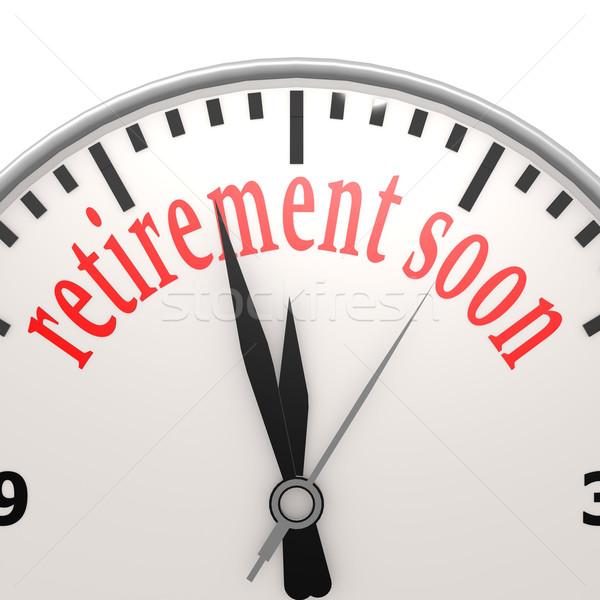 Pensioen spoedig business klok tijd leven Stockfoto © tang90246