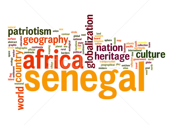 セネガル 言葉の雲 ビジネス 世界 アフリカ 雲 ストックフォト © tang90246