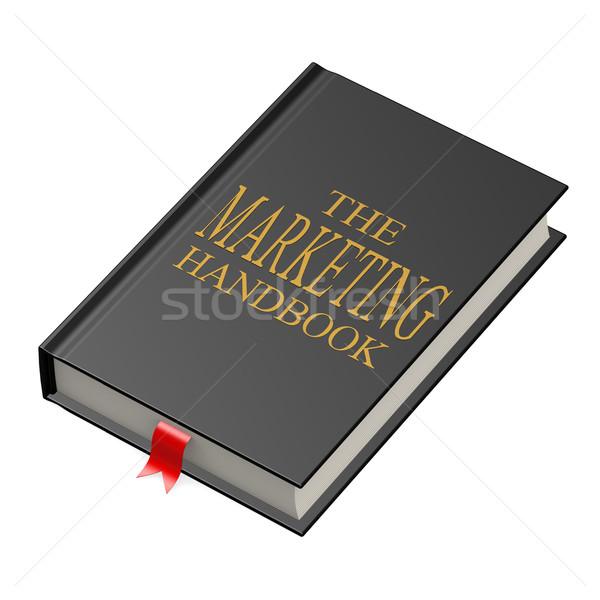 マーケティング ハンドブック 紙 図書 作業 にログイン ストックフォト © tang90246