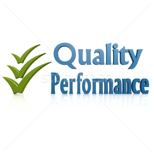 Calidad rendimiento diseno comunicación éxito comercialización Foto stock © tang90246