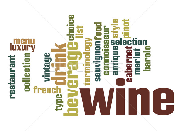Wine word cloud Stock photo © tang90246