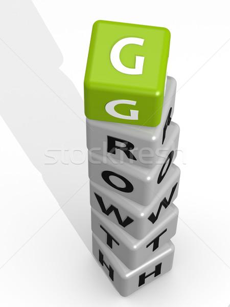 Growth buzzword green Stock photo © tang90246