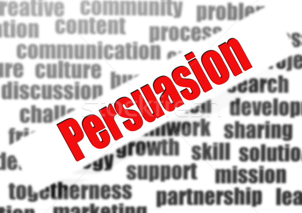 Persuasion word cloud Stock photo © tang90246