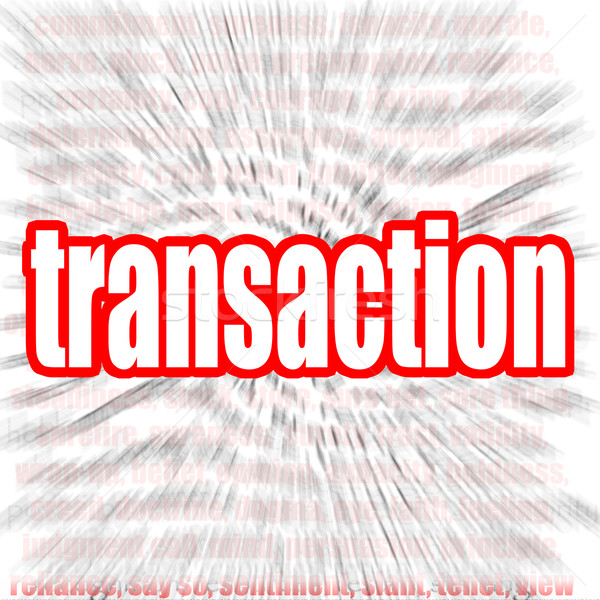 Transaction word cloud Stock photo © tang90246