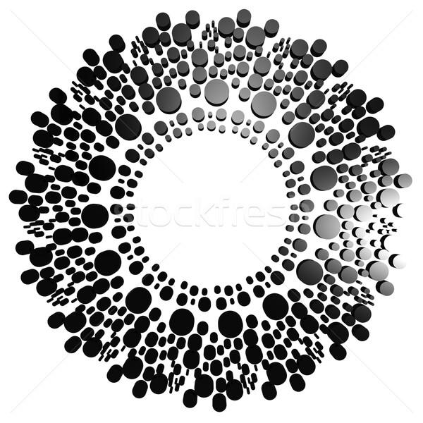 черный круга точка изображение оказанный Сток-фото © tang90246
