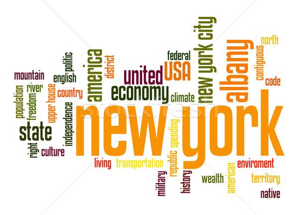 New York word cloud Stock photo © tang90246