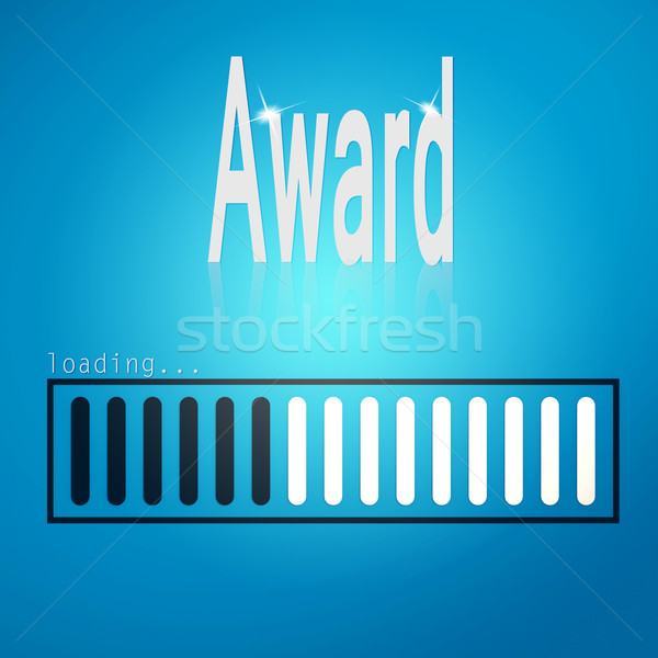Award blue loading bar Stock photo © tang90246