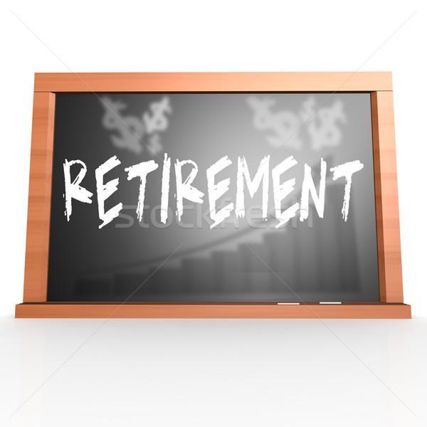 Emeklilik kelime görüntü render Stok fotoğraf © tang90246
