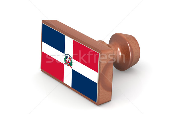 Wooden stamp with Dominican Republic flag Stock photo © tang90246