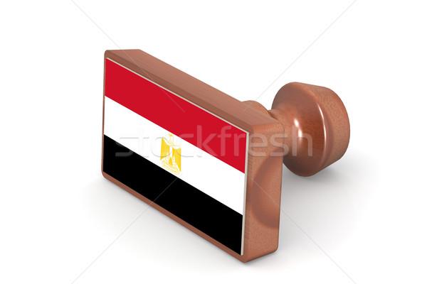 Carimbo Egito bandeira imagem prestados Foto stock © tang90246