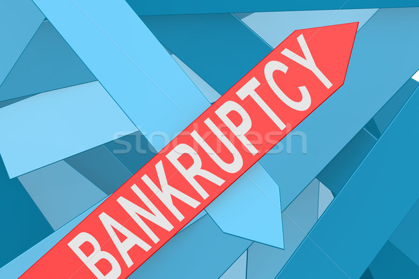 Bankruptcy arrow pointing upward Stock photo © tang90246