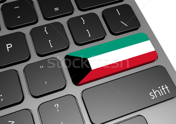 Кувейт клавиатура изображение оказанный используемый Сток-фото © tang90246