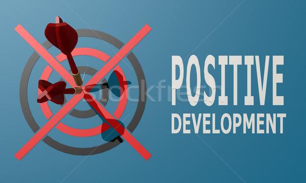 Dart board blue positive development Stock photo © tang90246