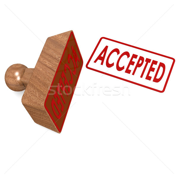 Accepted stamp Stock photo © tang90246