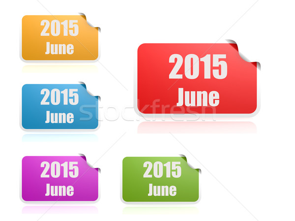 June of 2015 Stock photo © tang90246