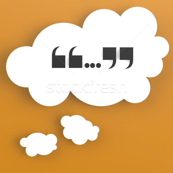 Burbuja de pensamiento naranja color resumen diseno fondo Foto stock © tang90246