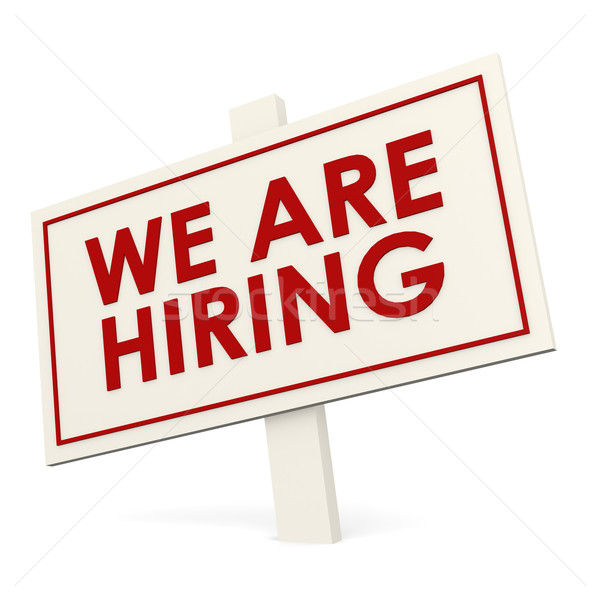 We are hiring white banner Stock photo © tang90246