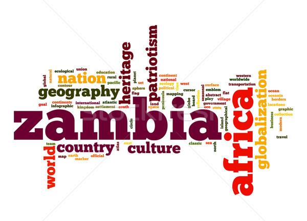 Замбия слово облако бизнеса Мир Африка облаке Сток-фото © tang90246